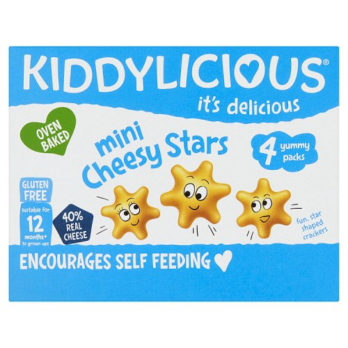 Kiddylicious Cheesy Stars Multi 4 Pack