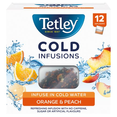 Tetley Cold Infusions Peach & Orange Teabags 12 Pack