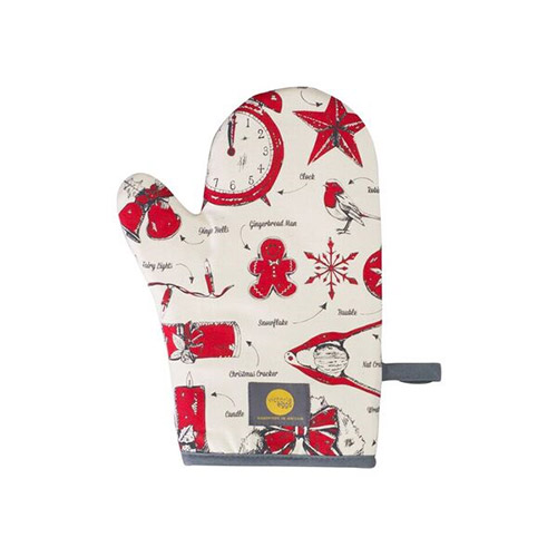Victoria Eggs Christmas Delights Oven Mitt Red