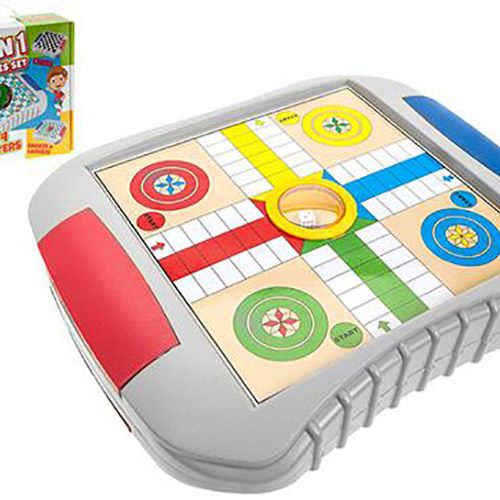 4 in 1 Games Set with Dice Popper