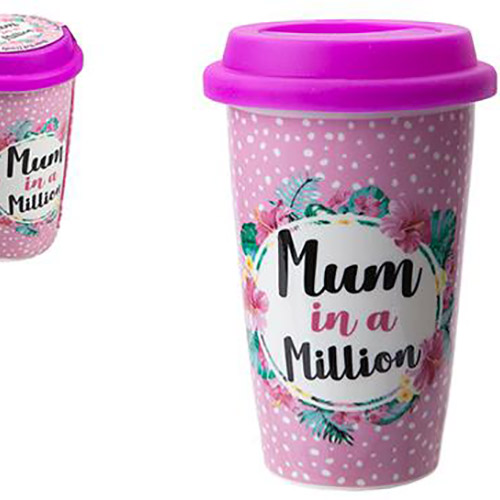 Mum in a Million Double Wall Cup with Lid