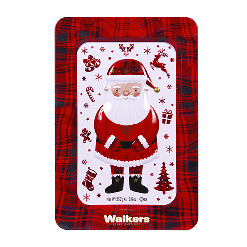 Walkers Shortbread Santa Tin