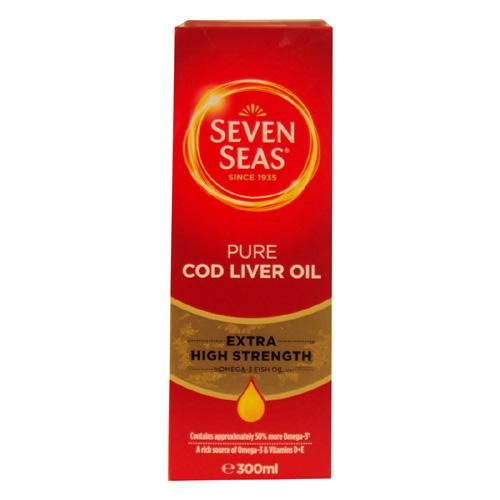 Seven Seas Pure Cod Liver Oil Extra High Strength, 300ml