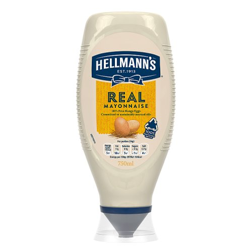 Hellmanns Real Mayonnaise Squeezy Large Size