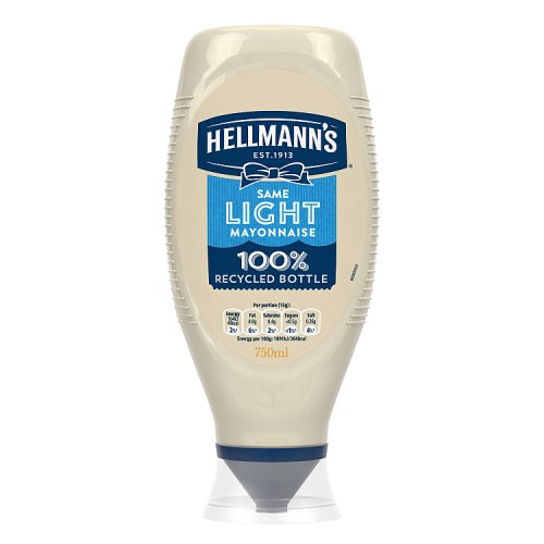 Hellmanns Light Mayonnaise Squeezy Large Size
