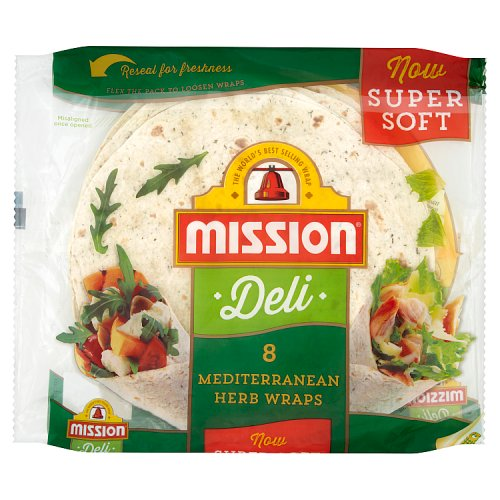 Mission Tortilla Wraps Mediterranean Herb 8 Pack