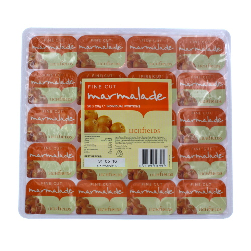 Lichfields Fine Cut Marmalade Portions x 20