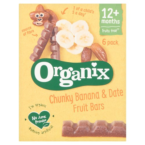 Organix 12 Month Goodies Banana & Date Bars 6 Pack