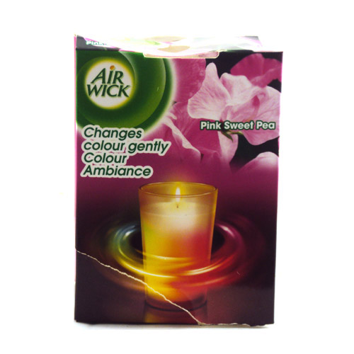 Airwick Colour Changing Candle Pink Sweet Pea