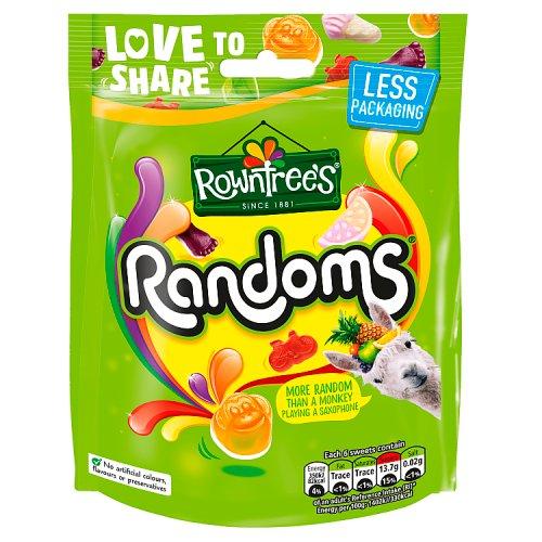 Rowntrees Randoms Sharing Bag Sweets Hanging Bags