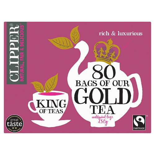 clipper tea gold 80 teabags drinks tea. Black Bedroom Furniture Sets. Home Design Ideas