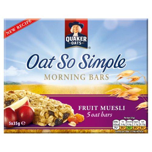 Quaker Oats So Simple Fruit Muesli Bars 5 Pack