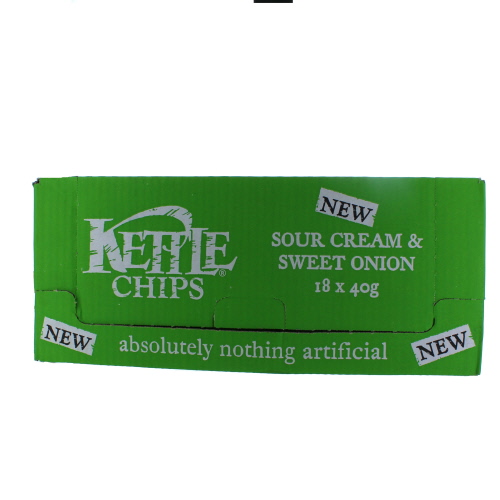 Kettle Chips Sour Cream & Sweet Onion 18 Pack