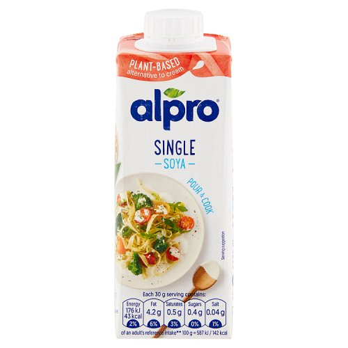 Alpro longlife soya alternative to cream for Alpro soya cuisine