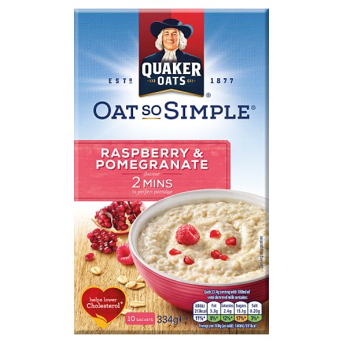 Quaker Oat So Simple Raspberry & Pomegranate