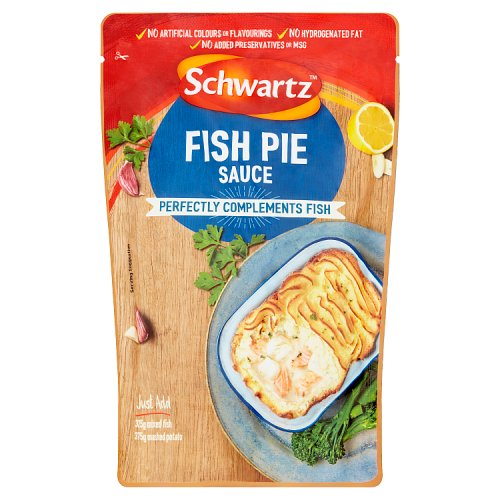 Schwartz fish pie wet sauce for fish for Sauces for fish