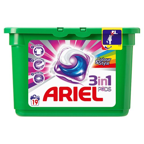 Image of Ariel 3in1 Colour Pods 19 Washes