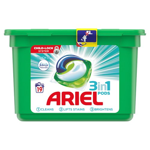 Image of Ariel 3In1 Febreze Pods 19 Washes