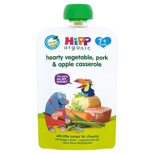 Hipp 7 Month Organic Hearty Vegetable Pork Apple Casserole Pouch