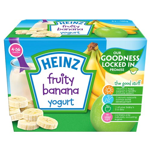 Heinz 4 Month Banana Fruity Yogurt 4 Pack