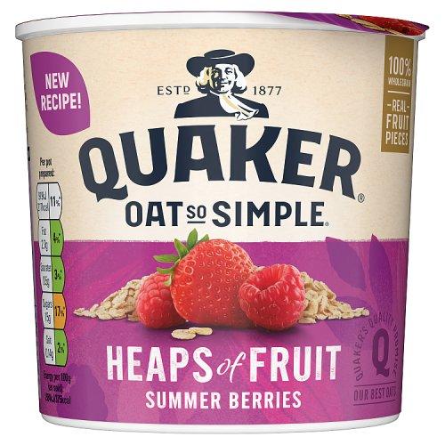 Quaker Oat So Simple Heaps Of Fruit Summer Berries