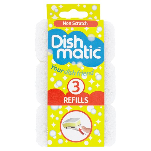 Image of Dishmatic Non Scratch Refills 3 Pack