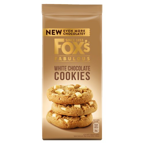 Foxs Chunkie Cookies White Chocolate