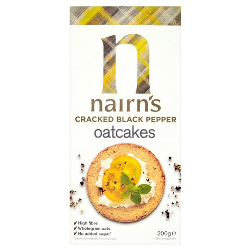 Nairns Cracked Black Pepper Oatcakes Limited Edition
