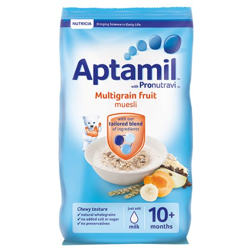 Aptamil 10 Month Fruit Cereal Packet