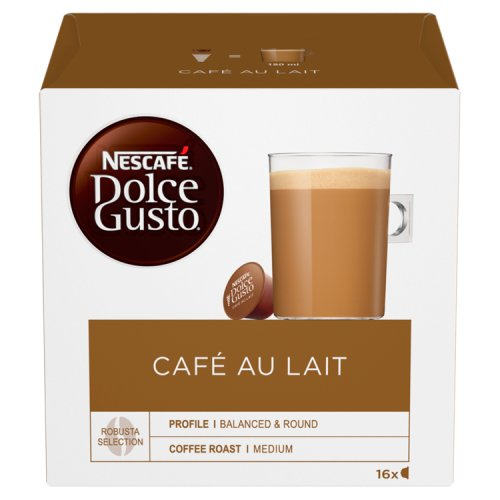 nescafe dolce gusto cafe au lait 16 servings. Black Bedroom Furniture Sets. Home Design Ideas