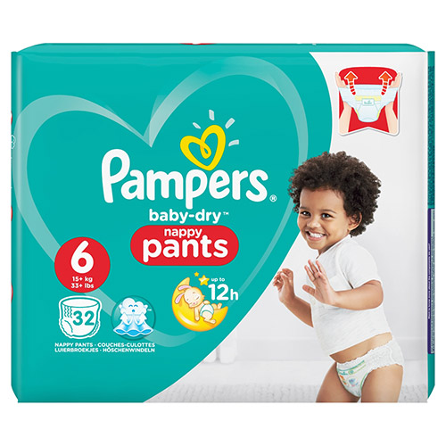 Pampers Easy Ups Size 6 Large 32 Pack