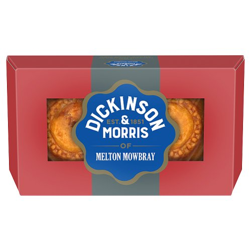 Dickinson & Morris Melton Mowbray Snack Pork Pie 2 Pack
