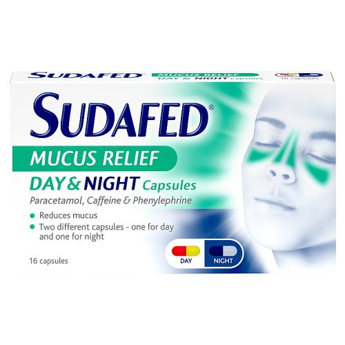 Sudafed Mucus Relief Day & Night 16s