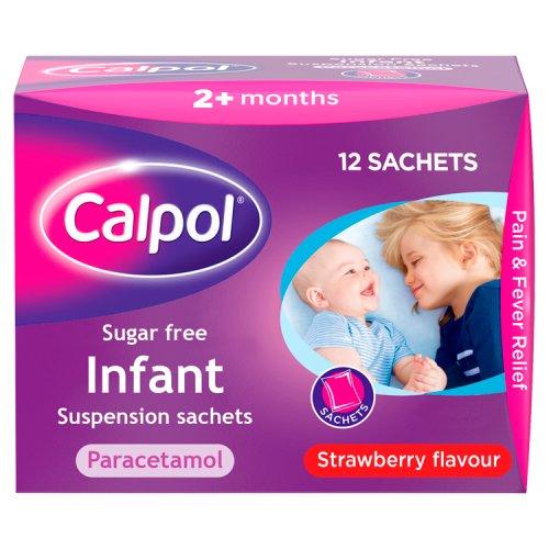 Calpol 2+ Months Sugar Free Sachets 12 Pack