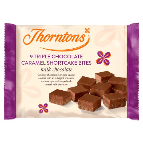 Thorntons Triple Chocolate Caramel Shortcake 10 Pack