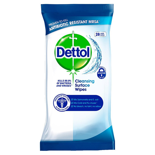 Image of Dettol Antibacterial Surface Wipes 36 Pack