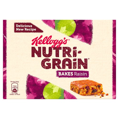 Kelloggs Elevenses Breakfast Bakes Raisin 6 Pack