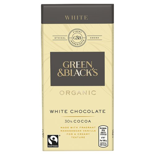 Green and Blacks Organic White Chocolate