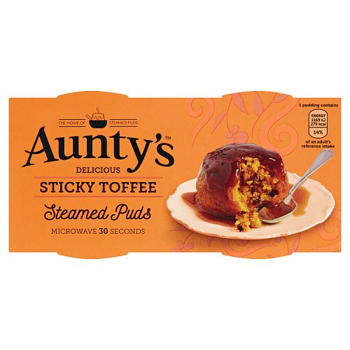 Auntys Sticky Toffee Pudding 2 Pack
