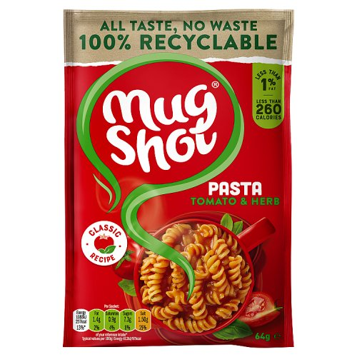 Fresh Meals Delivered >> Mug Shot Pasta Snack Tomato & Herb