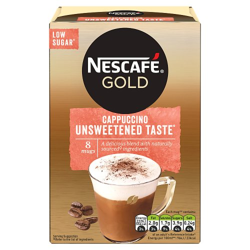 Nescafe Gold Unsweetened Cappuccino 10 Pack