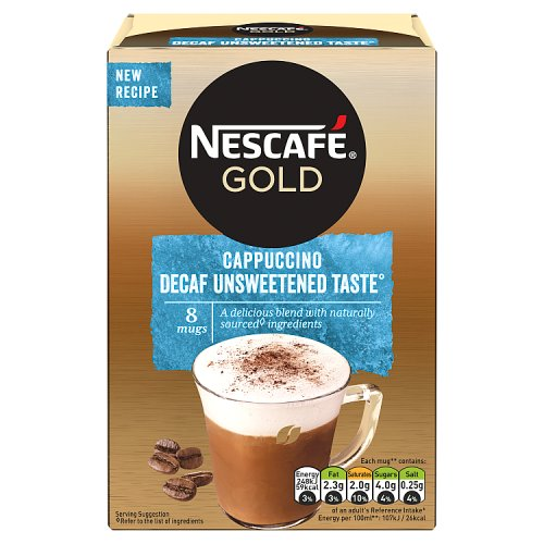 Nescafe Unsweetened Decaffeinated Cappuccino 10 Pack
