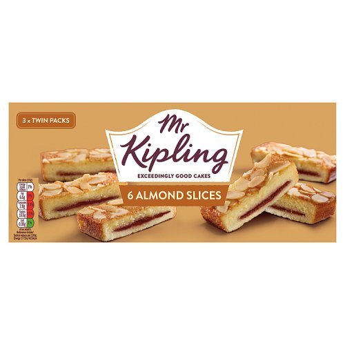 Cakes, Snacks & Sweets Mr Kipling Almond Slices 6 Pack