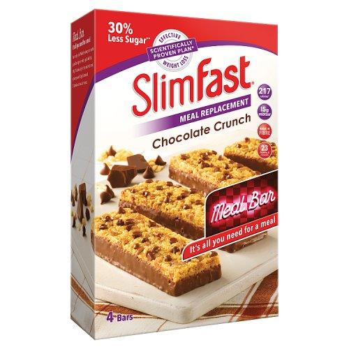 Slim Fast Chocolate Crunch Bars 4 x 60g