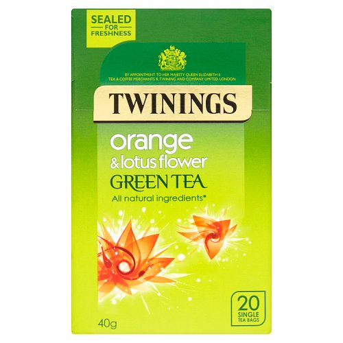 Twinings Green Tea with Orange & Lotus Flower Teabags 20