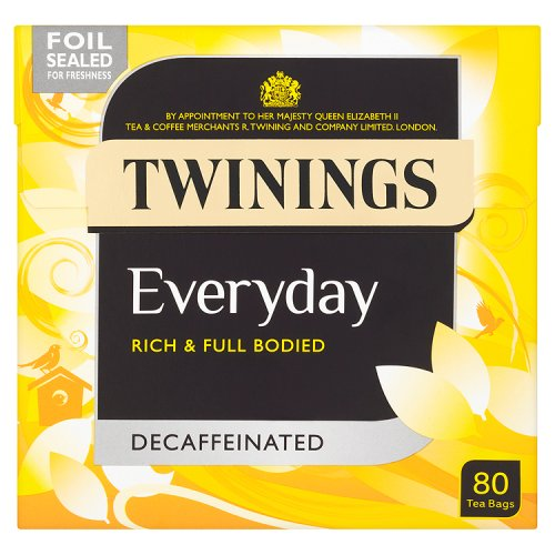 Twinings Everyday Decaffeinated 80 Teabags