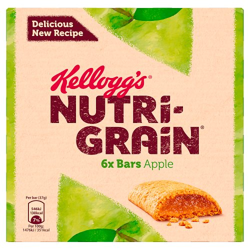 Kelloggs NutriGrain Apple 6 Pack