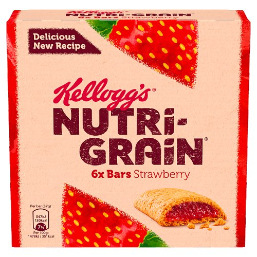 Kelloggs NutriGrain Strawberry 6 Pack