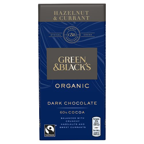 Green Black Organic Chocolate Nutrition Information
