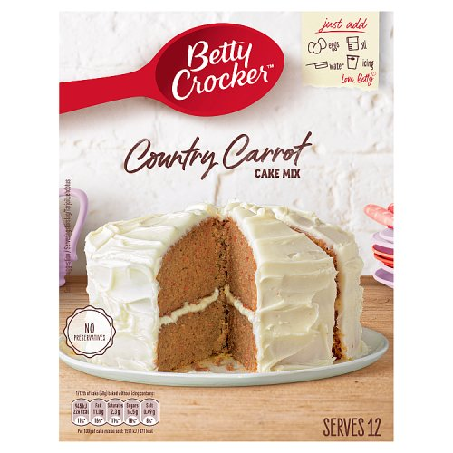 Betty Crocker Carrot Cake Mix Mixes
